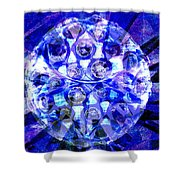 Azure Orb Of Midas Shower Curtain