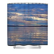 Azure, Pink And Reflections 2 Shower Curtain