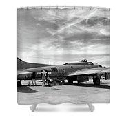 B-17  Black  Shower Curtain
