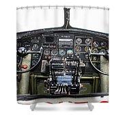 B-17 Cockpit Shower Curtain