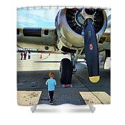 B-17 Engine Aircraft Wwii Shower Curtain