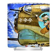 B-17 Paint  Shower Curtain
