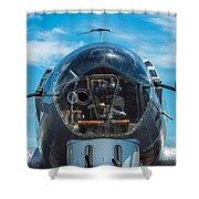 B 17 Snout Shower Curtain