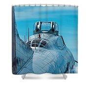 B 17 Spine Shower Curtain