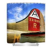 B-17 Tail Wwii Shower Curtain