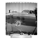B-17 Taxiing For Departure Shower Curtain