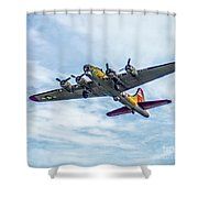 B-17g Flying Fortress In Flight  Shower Curtain