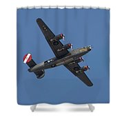 B-24j Liberator Wwii Fighter Shower Curtain
