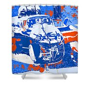 B-25 Blue Red  Shower Curtain