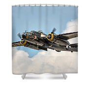 B-25 Georgie's Gal Shower Curtain