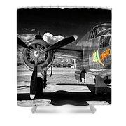 B-25 Mitchell Infrared Shower Curtain