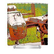 B-25 Red B Shower Curtain