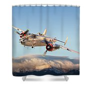 B-25 Mitchell Bomber Shower Curtain