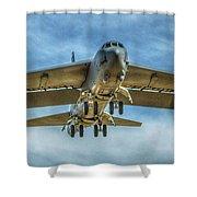 B-52 Departure Color Shower Curtain