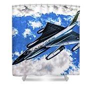 B-58 Hustler - Oil Shower Curtain