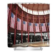 B And O Museum Roundhouse In Baltimore Maryland Shower Curtain