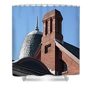 B And O Railroad Station In Oakland Maryland Shower Curtain