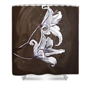B And W Lily Shower Curtain