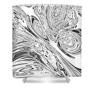 B And W Rendition Of-orion's Belt Vortex  Shower Curtain