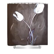 B And W Tulips Shower Curtain