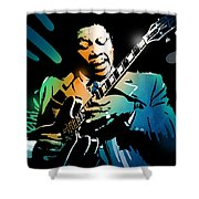 B B King Shower Curtain
