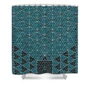 B - N W B  -  Blue Netwireblast Shower Curtain