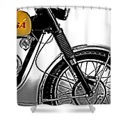 B S A Victor  Shower Curtain