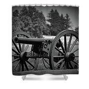 B W Canon Gettysburg Shower Curtain