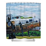 B17 Bomber Side View Shower Curtain