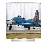 B17 Flying Fortress Cleared For Takeoff At Livermore Shower Curtain