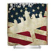 B17 Flying Fortress Vintage Shower Curtain