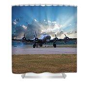 B17 Landing Shower Curtain