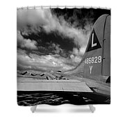 B17 Tail Shower Curtain