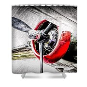 B25 Abstract Shower Curtain