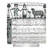Baa Baa Black Sheep Antique Music Score Shower Curtain