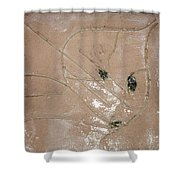 Babe - Tile Shower Curtain