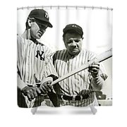 Babe Ruth And Lou Gehrig Shower Curtain