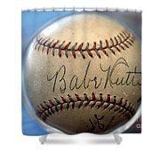 Babe Ruth Baseball. Shower Curtain