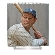 Babe Ruth Statue Shower Curtain