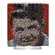 Babr Ruth Puzzle Piece Mosaic Shower Curtain