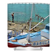 Babula's Fresh Catch Shower Curtain