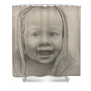 Baby 2 Portrait Shower Curtain