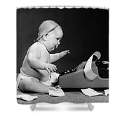 Baby Accountant Shower Curtain