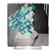 Baby And Squares 2 Shower Curtain