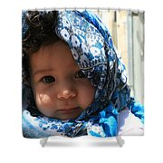 Baby Blues Jerusalem Shower Curtain
