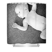 Baby Boy Black And White Shower Curtain