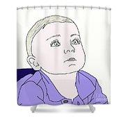 Baby Boy Shower Curtain