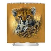 Baby Cheetah  Shower Curtain