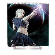 Baby Doll Shoots Back Shower Curtain