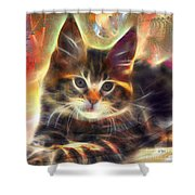 Baby Face - Square Version Shower Curtain